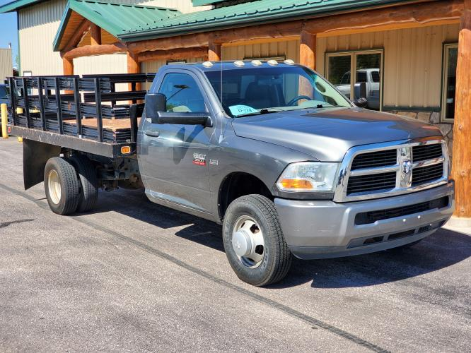 2011 Gray /Gray Ram 3500 ST Package (3D6WF4ET7BG) with an 5.7L Hemi V-8 engine, 6-Speed Automatic w/ OD transmission, located at 1600 E Hwy 44, Rapid City, SD, 57703, (605) 716-7878, 44.070232, -103.171410 - Photo #0