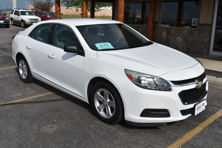 2014 White Chevrolet Malibu LS (1G11A5SL3EF) with an 2.5L 4 Cyl Ecotec engine, 6-Speed Automatic, Electronically Controlled transmission, located at 1600 E Hwy 44, Rapid City, SD, 57703, (605) 716-7878, 44.070232, -103.171410 - Photo #0