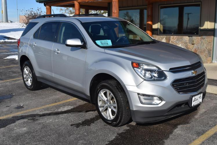2016 Silver Chevrolet Equinox LT (2GNALCEK7G6) with an 2.4L 4Cyl Ecotec DOHC engine, 6-Speed Automatic w/ OD transmission, located at 1600 E Hwy 44, Rapid City, SD, 57703, (605) 716-7878, 44.070232, -103.171410 - Photo #0