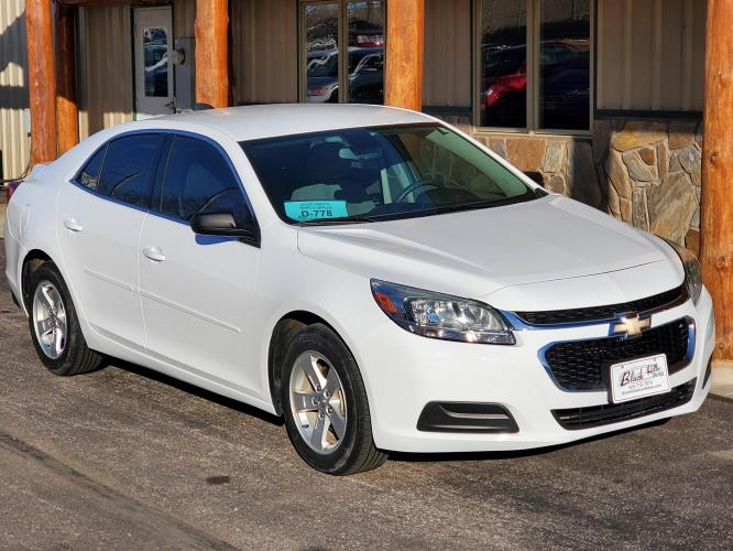 2015 White Chevrolet Malibu LS (1G11A5SL7FF) with an 2.5L 4 Cyl Ecotec engine, 6-Speed Automatic Electronically Controlled transmission, located at 1600 E Hwy 44, Rapid City, SD, 57703, (605) 716-7878, 44.070232, -103.171410 - Photo #0