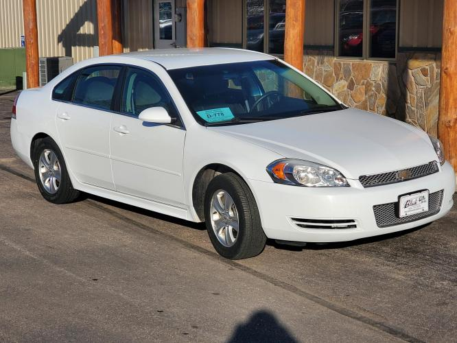 2014 White Chevrolet Impala LS (2G1WA5E35E1) with an 3.6L VVT engine, 6-Speed Automatic transmission, located at 1600 E Hwy 44, Rapid City, SD, 57703, (605) 716-7878, 44.070232, -103.171410 - Photo #0